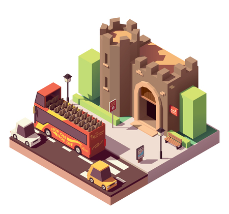 Vector isometric tourist attractions 向量圖像