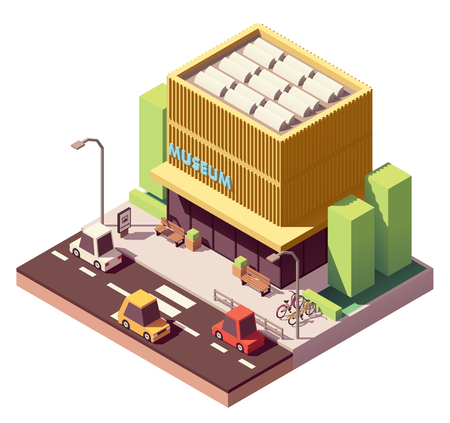 Vector isometric museum building 스톡 콘텐츠 - 108775232