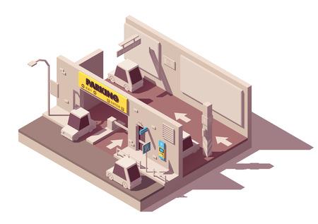 Icône de parking à plusieurs étages de vecteur