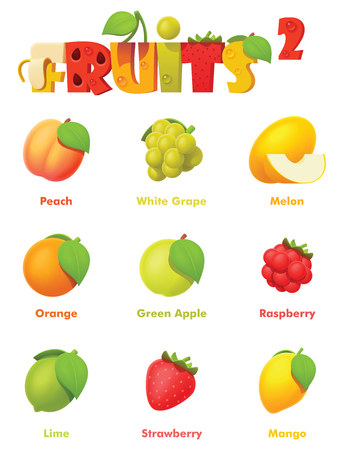 Vector fruits icon set Imagens - 112515610