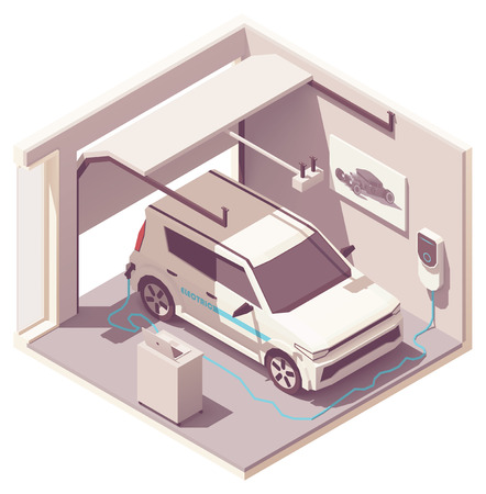 Vector garage and electric vehicle