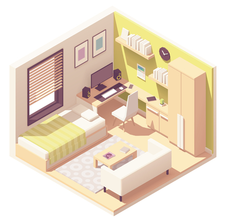 Vector teenager or student room
