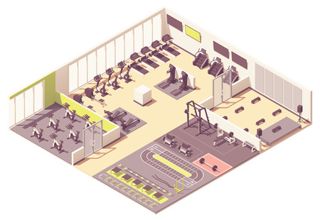 Vector fitness club 版權商用圖片 - 122042458