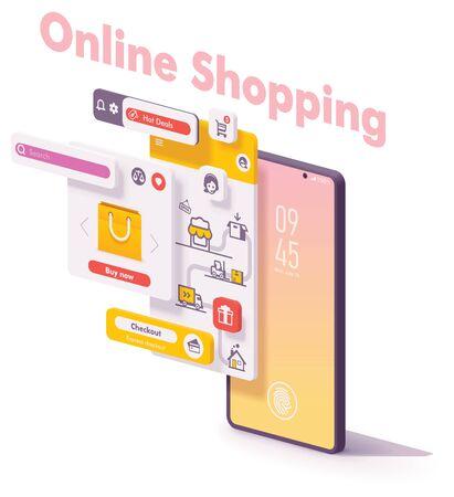 Vector mobile online shopping app