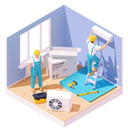 Air conditioner installation Illustration