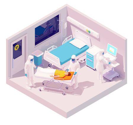 Vector isometric hospitalization with coronavirus