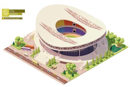 Vector isometric stadium building