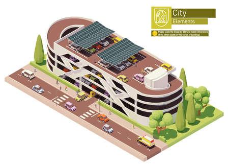 Vector isometric car park building 矢量图像