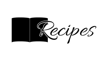 Cookbook icon. The first letter on the background of graphics. Graphics for the website, culinary   blog, advertisement or banner.
