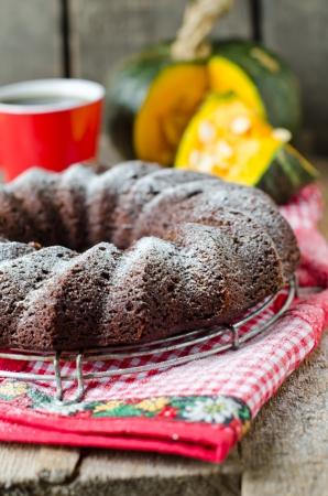 Chocolate Pumpkin Cake 免版税图像