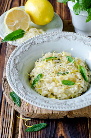 minted: Risotto with lemon and mint