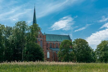 outside view of the ancient Minster church in Bad Doberan Germany
