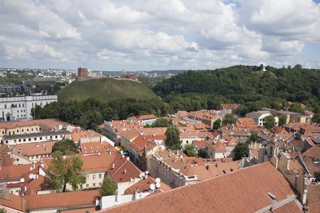 vilnius: Central Vilnius - tiled roofs. Lithuania