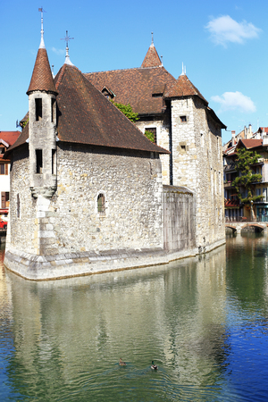 medieval building in the town of Annecy in France