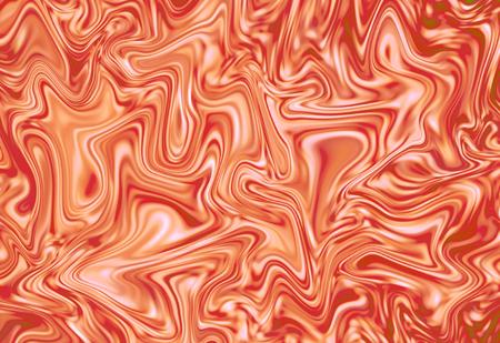 Abstract orange and white background. Marble texture digital illustration. Marbling effect for backdrop, wedding invitation, identity or food design. Strawberry milk paint flow. Suminagashi ink image Stock Photo