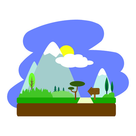 cypress: Summer landscape
