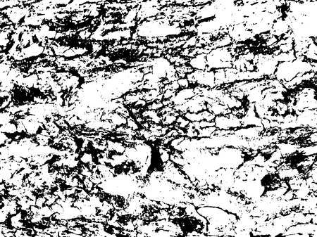 preset: Old wood bark monochrome vector texture. Obsolete texture of timber board. Distressed overlay for vintage effect. Grit overlay with weathered lumber. Old wooden surface with cracks. Tree board Illustration