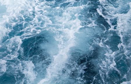 pitching: Sea water ship trail with white foamy wave. Tropical islands ferry travel. Cruiseliner seawater trail. Deep ocean top view. Big ship pitching image. White water wave in the sea. Exotic island hopping