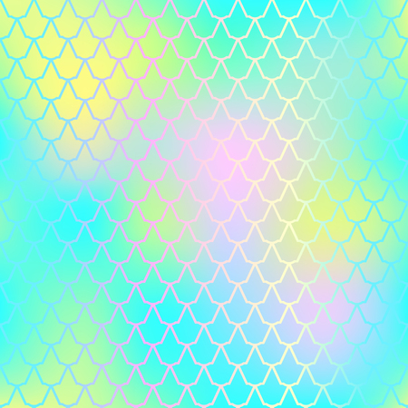 Fantastic fish skin vector background with scale pattern. Mermaid pattern. Pale gradient mesh. Abstract blurry vector background. Fish skin seamless pattern. Mermaid skin background. Aquatic fishscale