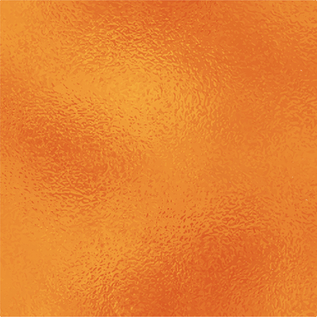 Metallic golden foil texture. Vibrant gold foil square vector background. Orange golden texture swatch. Golden foil backdrop for elegant wedding invitation. Bright orange wallpaper or banner template Çizim