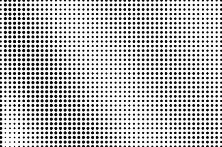 白黒点線のハーフトーンベクトルの背景。通常のハーフトーンパターン。透明なオーバーレイ上の黒い点。モノクロームの点線イラスト。斜めのハ