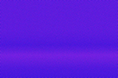 Blue pink dotted halftone. Subtle centered dotted gradient. Half tone vector background. Artificial texture. Pink dot on blue backdrop. Violet pop art design template. Glitch halftone texture