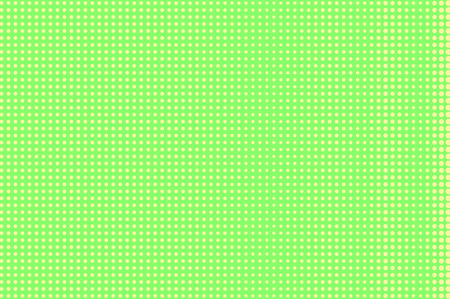 Green yellow dotted halftone. Regular rough dotted gradient. Half tone vector background. Abstract pastel texture. Yellow ink dot on green backdrop. Modern pop art design template. Halftone texture