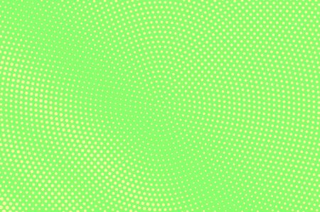 Green yellow dotted halftone. Radial faded dotted gradient. Half tone vector background. Abstract vivid texture. Yellow ink dot on green backdrop. Modern pop art design template. Halftone texture