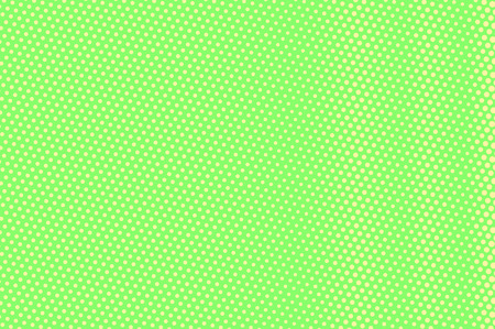 Green yellow dotted halftone. Rough dotted gradient. Half tone vector background. Abstract vivid texture. Yellow ink dot on green backdrop. Modern pop art design template. Halftone texture