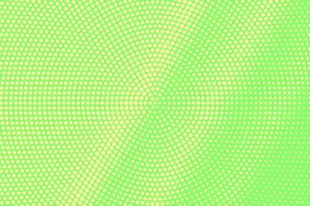 Green yellow dotted halftone. Diagonal subtle dotted gradient. Half tone vector background. Abstract vivid texture. Yellow ink dot on green backdrop. Modern pop art design template. Halftone texture Illustration