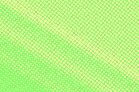 Green yellow dotted halftone. Sparse subtle dotted gradient. Half tone vector background. Abstract vivid texture. Yellow ink dot on green backdrop. Modern pop art design template. Halftone texture Stock Illustratie