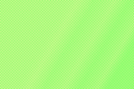 Green yellow dotted halftone. Frequent subtle dotted gradient. Half tone vector background. Abstract vivid texture. Yellow ink dot on green backdrop. Modern pop art design template. Halftone texture