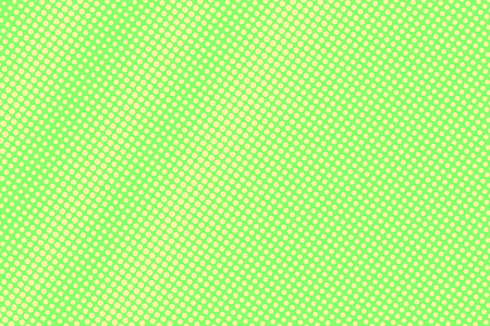 Green yellow dotted halftone. Diagonal radial dotted gradient. Half tone vector background. Abstract vivid texture. Yellow ink dot on green backdrop. Modern pop art design template. Halftone texture Stock Illustratie
