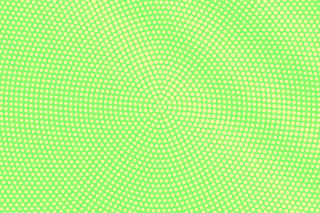 Green yellow dotted halftone. Diagonal grunge dotted gradient. Half tone vector background. Abstract vivid texture. Yellow ink dot on green backdrop. Modern pop art design template. Halftone texture