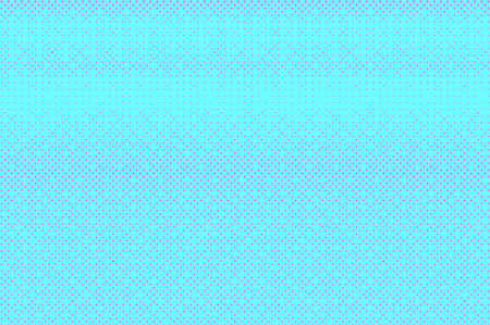 Blue pink dotted halftone. Subtle regular dotted gradient. Half tone vector background. Artificial texture. Pink dots on cyan backdrop. Modern pop art design template. Glitch halftone texture Stock Illustratie