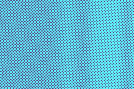 Blue violet dotted halftone. Vertical subtle dotted gradient. Half tone vector background. Artificial texture. Violet dots on cyan backdrop. Vivid pop art design template. Glitch halftone texture