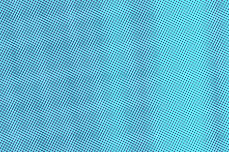 Blue violet dotted halftone. Vertical subtle dotted gradient. Half tone vector background. Artificial texture. Violet dots on cyan backdrop. Vivid pop art design template. Glitch halftone texture