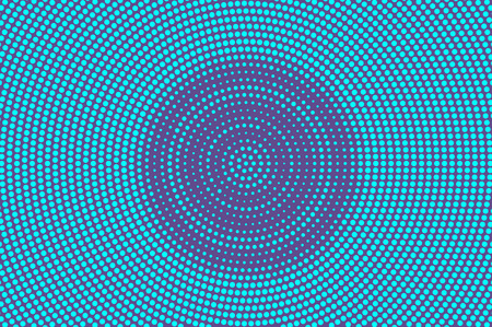 Blue violet dotted halftone. Rough circle dotted gradient. Half tone vector background.