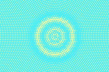 Turquoise yellow dotted halftone illustration