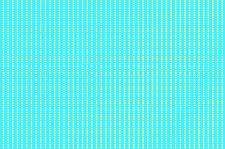 Turquoise yellow dotted halftone. Vertical dotted row pattern. Half tone vector background. Artificial texture. Yellow dot on blue backdrop. Vivid pop art design template. Glitch halftone texture