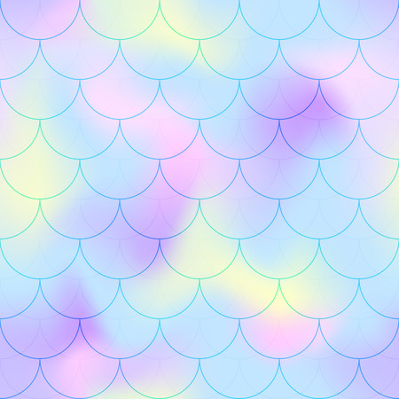 Pink blue mermaid scale vector background. Ilustrace