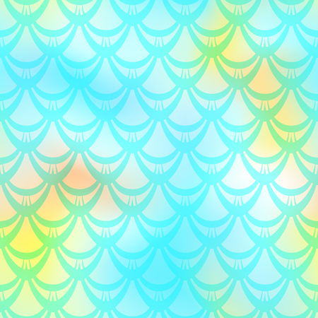 Mint yellow mermaid vector background.