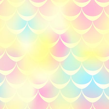 Yellow pink mermaid skin vector background. Иллюстрация