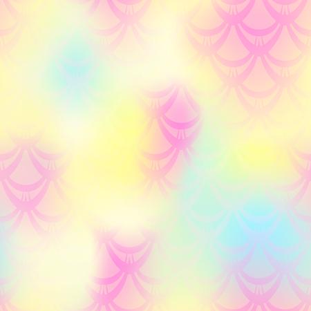 Pale yellow mermaid vector background.