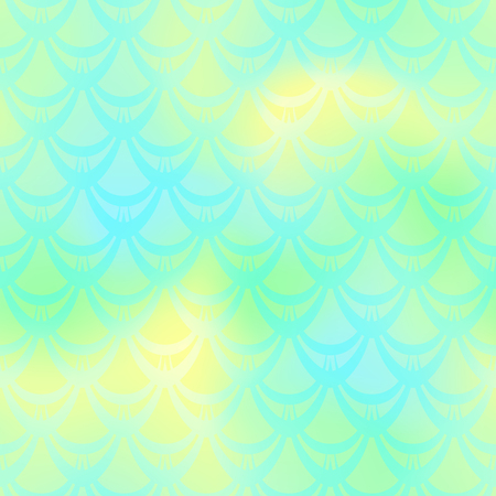 Lime green mermaid vector background. Fresh spring iridescent background. Fish scale pattern. Mermaid seamless pattern tile. Holographic gradient. Mermaid skin seamless pattern. Mermaid wrapping paper