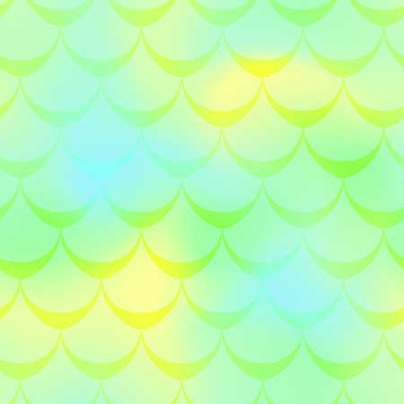 Yellow green mermaid vector background. Juicy iridescent background. Fish scale pattern. Mermaid seamless pattern tile. Holographic gradient. Mermaid skin seamless pattern. Mermaid wrapping paper