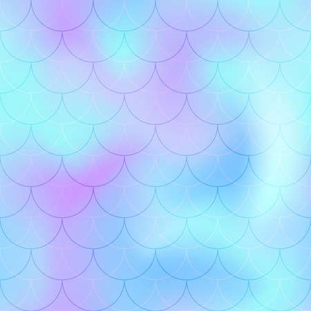 Violet mint mermaid scale vector background.
