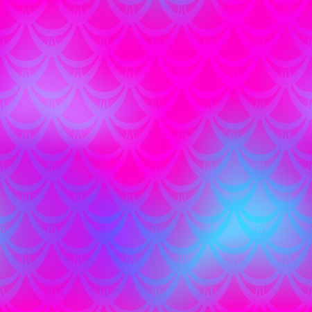 bright pink fish or mermaid scales seamless background pattern. vector illustration.