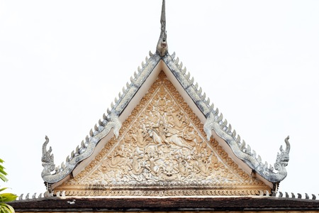 Buddhist architecture in Wat Damnak pagoda, Siem Reap, Cambodia.