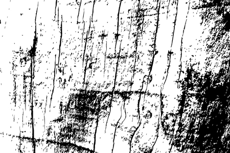 Grungy wooden texture. Rough timber black and white vector texture. Distressed hardwood structure. Obsolete timber structure. Natural lumber grit and scratch. Aged worn vintage overlay. Wood surface